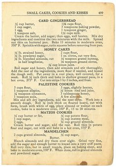 The Settlement Cook Book BK 1894 Page 499 Family Recipes :: preserving recipes :: In the Kitchen :: Good Ole Days :: from the heart :: old fashion cookery