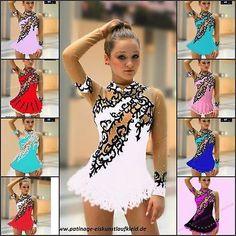 Figura De Patinaje Sobre Hielo Vestido Roller Skater espectáculo de danza Disfraz