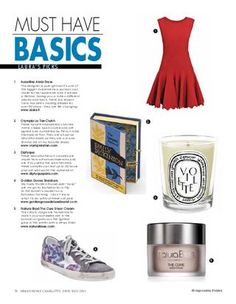 Urban Home Magazine June/July 2012  Style Picks by Laura Vinroot Poole of The Poole Shop and Capitol in Charlotte