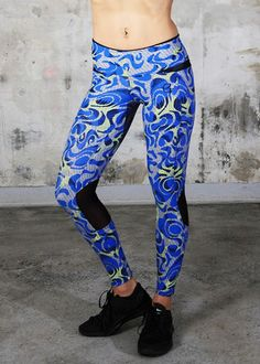 FREE Shipping on all Equilibrium Leggings!These Blue Print Leggings will keep you serene at Yoga class.#serene #blue #leggings #yoga