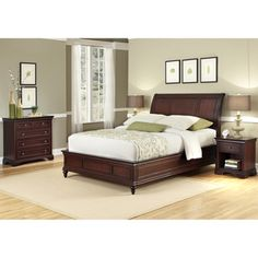 @Overstock - Lafayette Queen/ Full Bedroom Set - Add a stylish touch to your bedroom with this bedroom set. A rich cherry finish highlights this sleigh headboard, night stand and chest.   http://www.overstock.com/Home-Garden/Lafayette-Queen-Full-Bedroom-Set/7210145/product.html?CID=214117 $777.71