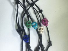 Beard dread hair Stone Skull Lacers made of carved howlite. Pick a color. Beard Dreads, Hair And Beard Styles, Long Hair Styles, Beard Accessories, Dread Hairstyles, Black Rope, Decorative Objects, Skulls, Braid