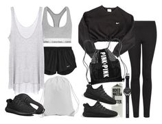 """""""Untitled #8527"""" by nikka-phillips ❤ liked on Polyvore featuring NIKE, adidas, Calvin Klein Underwear, MANGO, Enza Costa, Victoria's Secret, Witchery, women's clothing, women and female"""