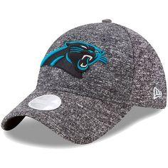 2af23f87f Women s New Era Heathered Gray Carolina Panthers Total Terry 9TWENTY  Adjustable Hat