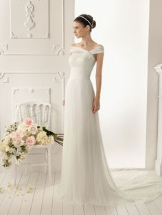 Vestido de novia recto, columna o sheath dress
