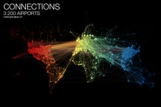 Visualizando el tráfico aéreo global