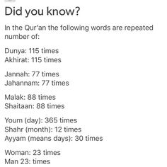 Did you know? :) #Quran Share this! It's amazing m'A!