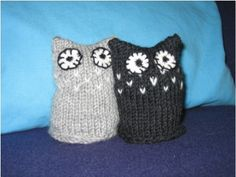 Strikket ugle Knitted owl Knitted Owl, Beanie, Hats, Hat, Beanies, Hipster Hat, Beret