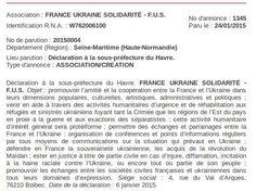 Via Laurent Brayard France-Ukraine-Solidarité, association criminelle qui soutient Porochenko et les néonazis, #Ukraine