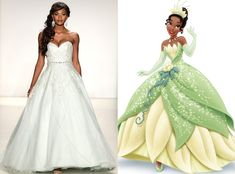 Tiana from Alfred Angelo's Disney Princess Wedding Gowns  Elegant? Check. Romantic? Yep. Tiana-approved? Triple check!