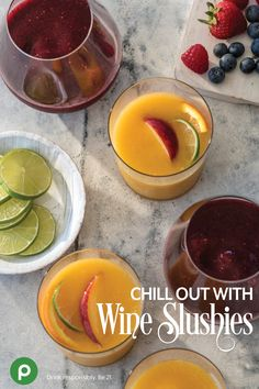Ready for a new taste in your wine cocktail? Get Publix Apron recipes for White Wine Peach Slushies or Berry Moscato Wine Slushies.