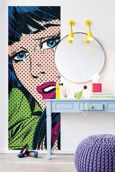 Kleurige popart in het interieur - Roomed