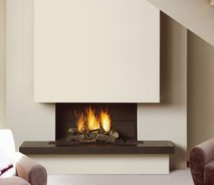 Chimeneas funcional Cave Spring, Spring Home, Chim Chimney, Home Fireplace, Fireplaces, Minimalism, New Homes, House Design, Living Room