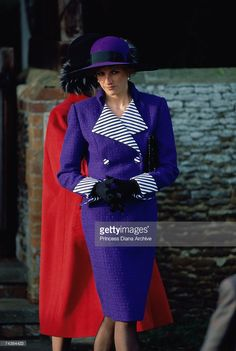 December 25, 1989: Princess Diana (1961 - 1997) at a Christmas Day service at Sandringham Church.