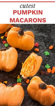 Who loves french macarons? Then why not celebrate fall with these adorable pumpkin macarons – perfect treats for any fall gatherings!