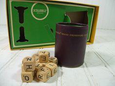 Vintage Scrabble CrossWord Cubes Game  Retro by DivineOrders, $12.00