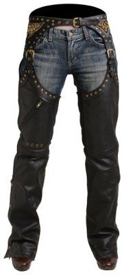 Amazon.com: Pokerun Womens Marilyn 2.0 Leather Chaps Black Extra Large XL: Automotive