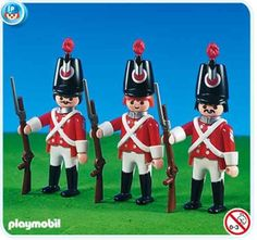 Red Coat Soldiers - Playmobil Pirates RED COATS