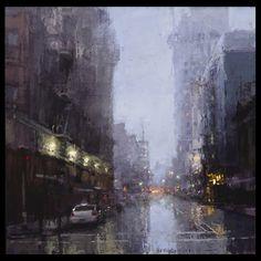 'Evening Rains Downtown'   by Jeremy Mann