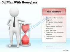 1113 Man with Hourglass Ppt Graphics Icons Powerpoint #Powerpoint #Templates #Infographics