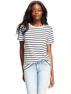 Relaxed Crew Neck Tee for Women Product Image