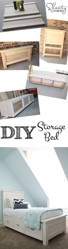 Free DIY Furniture Project Plan: Learn How to Build a Twin Bed with Storage