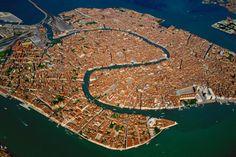 Vista general de Venecia, Italia.