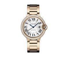 BALLON BLEU DE CARTIER WATCH 36 MM, Automatic, Pink gold, Diamonds, Sapphire