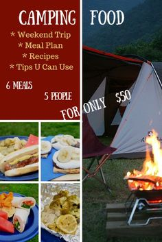 Feeding the family for $50 on a weekend camping trip - Camping Food: Meal Plan, Recipes, & Tips for a Weekend Campout | Little Family Adventure