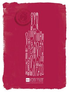 Here is the winning design turned into the winning poster for the 2012 BB Charleston Wine + Food Festival by Jessica Crouch.