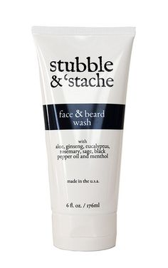 Face and Beard Wash. Gently cleans your face and beard without overdrying.