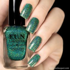 What's hotter than hot? This better version of the original, teal holographic polish gives your manicure a shimmer look. This polish can be worn alone in 2-3 coats or top it with any color! Collection