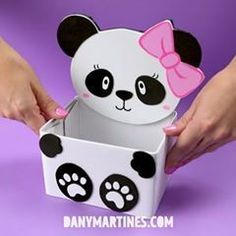 Best Baby Shower Ideas For Girs Diy Purple Party Favors 39 Ideas Panda Themed Party, Panda Birthday Party, Panda Party, Kids Crafts, Preschool Crafts, Diy And Crafts, Paper Crafts, Diy Panda, Purple Party Favors