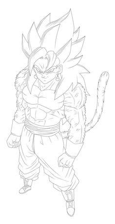Goku Drawing, Ball Drawing, Dbz Drawings, Dragon Images, Art Anime, Dragon Ball Gt, Illustrations, Coloring Pages, Akira