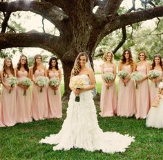 Wedding Dress: Ivy & Aster // Bridesmaids dresses: Amsale