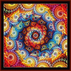 Fractal 668 -  All Patterns -  NEW - Abstract  - Fractals - Cross Stitch Collectibles