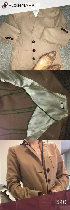 Blazer, suit jacket, sport coat Camel , tan wool blazer. A little too big for me J. Crew Jackets & Coats Blazers