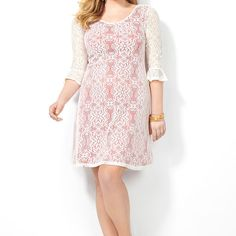 Crochet Overlay Sheath-Plus Size Sheath Dress-Avenue  $40.80