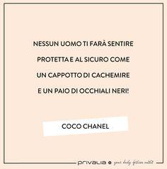 Frasi coco chanel in italiano cerca con google for Privalia accedi