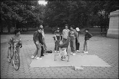 Break Dancers in Central Park, New York City, 1984.  © Ted Barron, 2011.