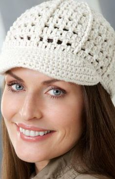 Brimming with Fun Cap Crochet Pattern. Red Heart Free Pattern. Skill Level: Easy