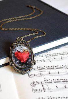 Victorian Romance - Gothic Heart Pendant Brooch by RagDolliesMadhouse on DeviantArt