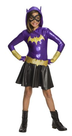 Kids Batgirl Hoodie Dress - DC Comics  Get 10% off Your Next Purchase License: DC Super Hero Girls   Shop 1000 of costumes for mens womens and kids for any season!  #costume #costumeaccessories #costumeparty #nightlife #sale #costumes #theather #plays https://halloweenempireonline.com/product/kids-batgirl-hoodie-dress-dc-costumes/