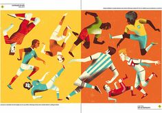 Mondial 2014 / Revista Saraiva  by Gwen Keraval, via Behance