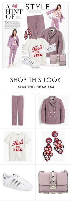 """""""My Mood Today"""" by lidia-solymosi ❤ liked on Polyvore featuring J.Crew, Balmain, adidas and Valentino"""
