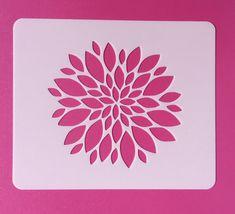 Reusable Flower Stencil, Mylar Flower Stencil, Dahlia Flower Stencil, Flower Template