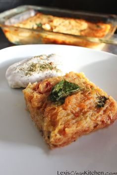 Italian-Style Spaghetti Squash Bake | Lexiscleankitchen.com