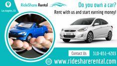 Car Rental Service For Uber & Lyft Drivers in los-Angeles - RideShare Rental Long Term Car Rental, Best Car Rental, Uber Driving, Renting, Miami Florida, Banner Design, Money, Silver