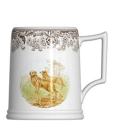 Spode Dinnerware, Woodland Tankard Beer Mug Golden Retriever - Glassware - Dining & Entertaining - Macy's