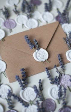 wax stamp wedding invitations #wedding #weddinginvitations Wedding Cards, Our Wedding, Dream Wedding, Fall Wedding, Rustic Wedding, Wax Seal Stamp, Invitation Cards, Stamps For Wedding Invitations, Lavender Wedding Invitations